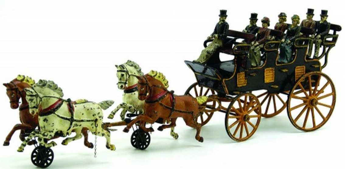 pratt & letchworth gusseisen kutsche vier sitzbaenke pferde