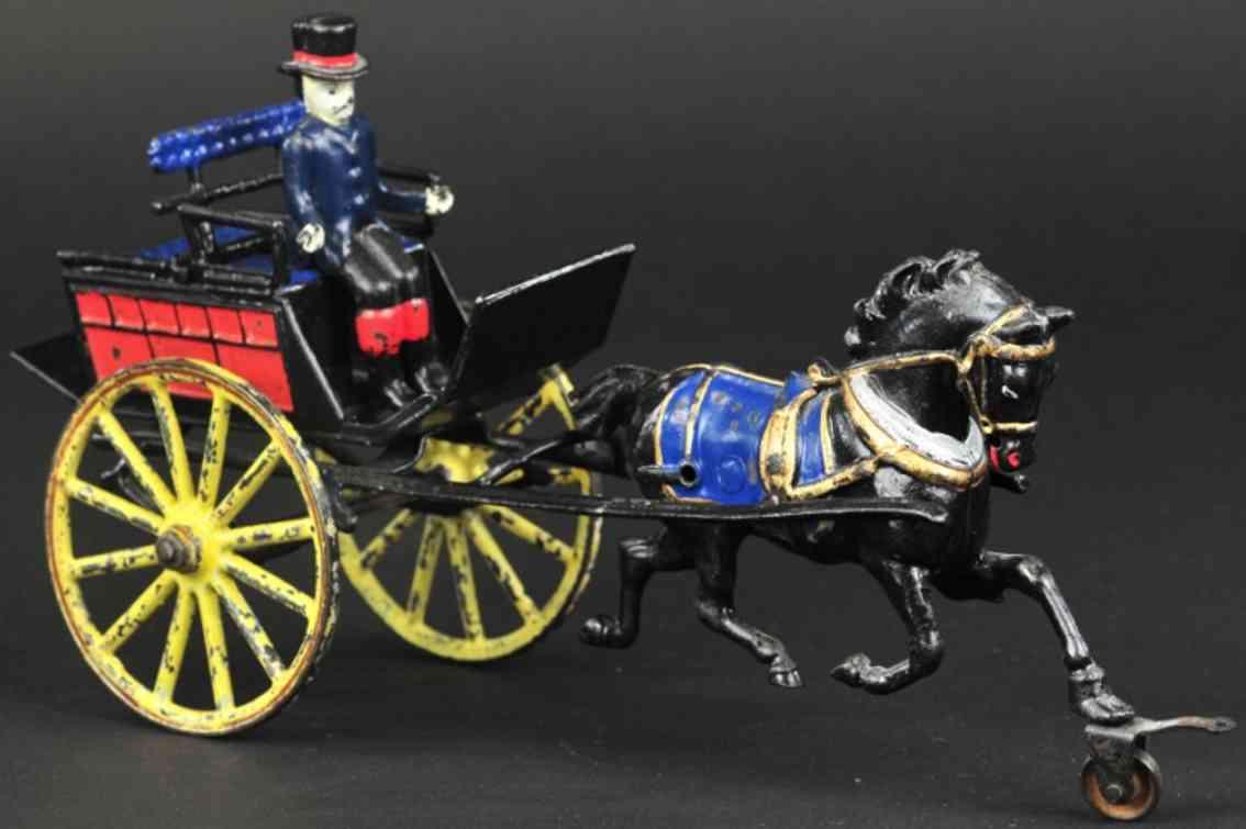 pratt & letchworth spielzeug gusseisen hundekutsche ein pferd