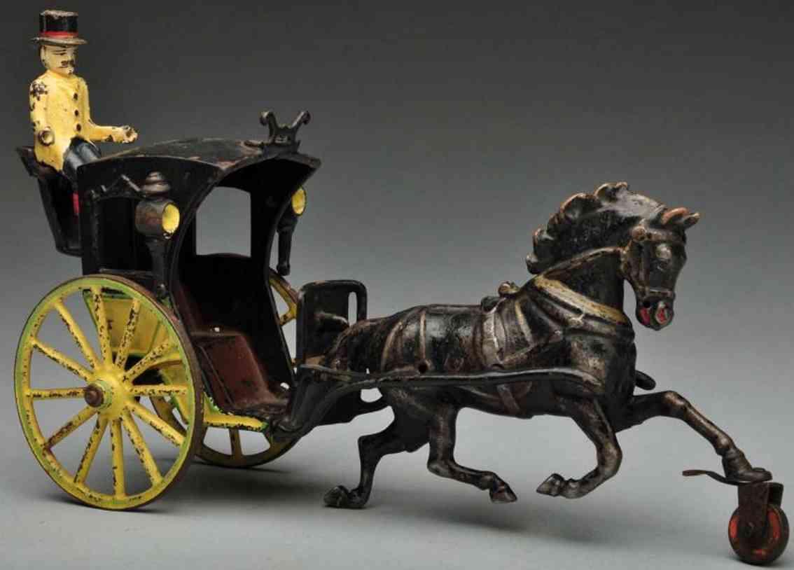 pratt & letchworth gusseisen hansom kutsche pferd kutscher
