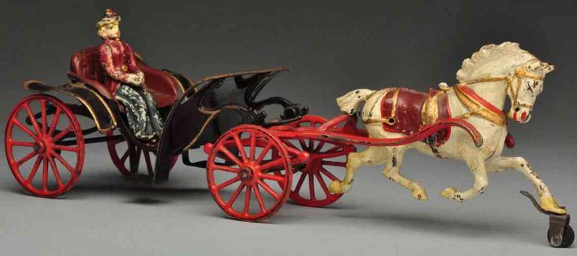 pratt & letchworth phaeton kutsche gusseisen ein pferd frau