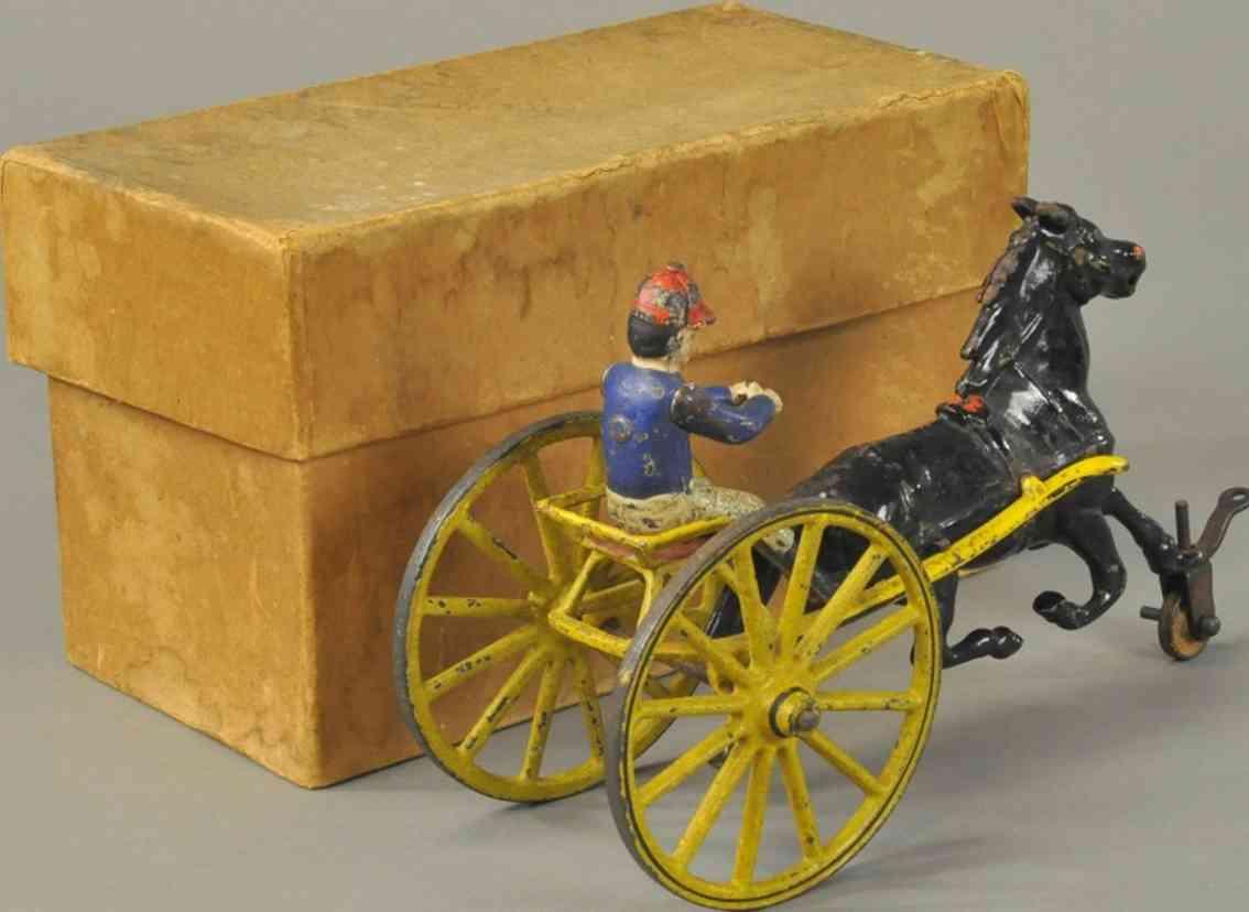 pratt & letchworth spielzeug gusseisen sulky  ein pferd
