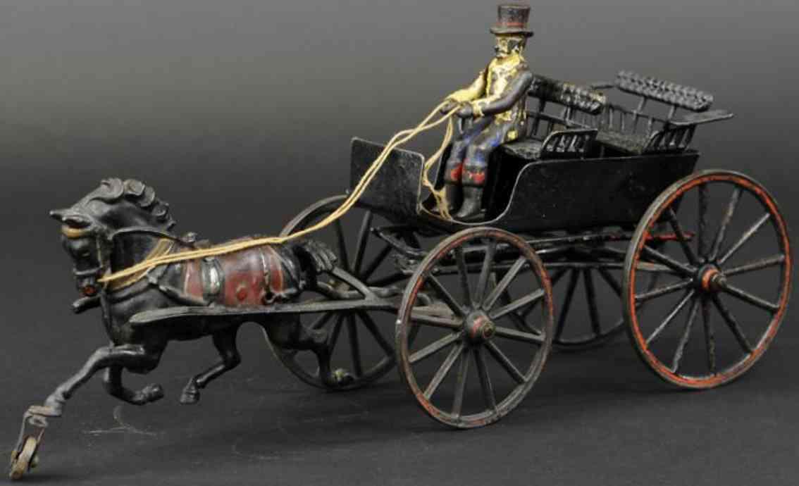 pratt & letchworth gusseisen zweisitzige kutsche ein pferd