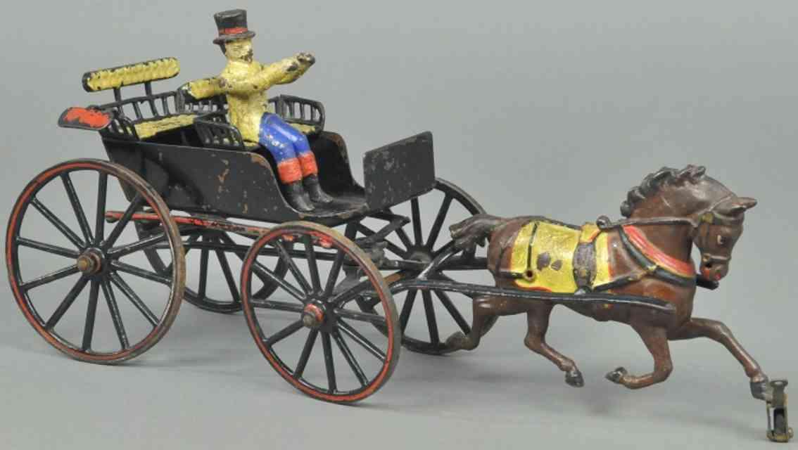 pratt & letchworth  spielzeug gusseisen zweisitziger surrey ein pferd