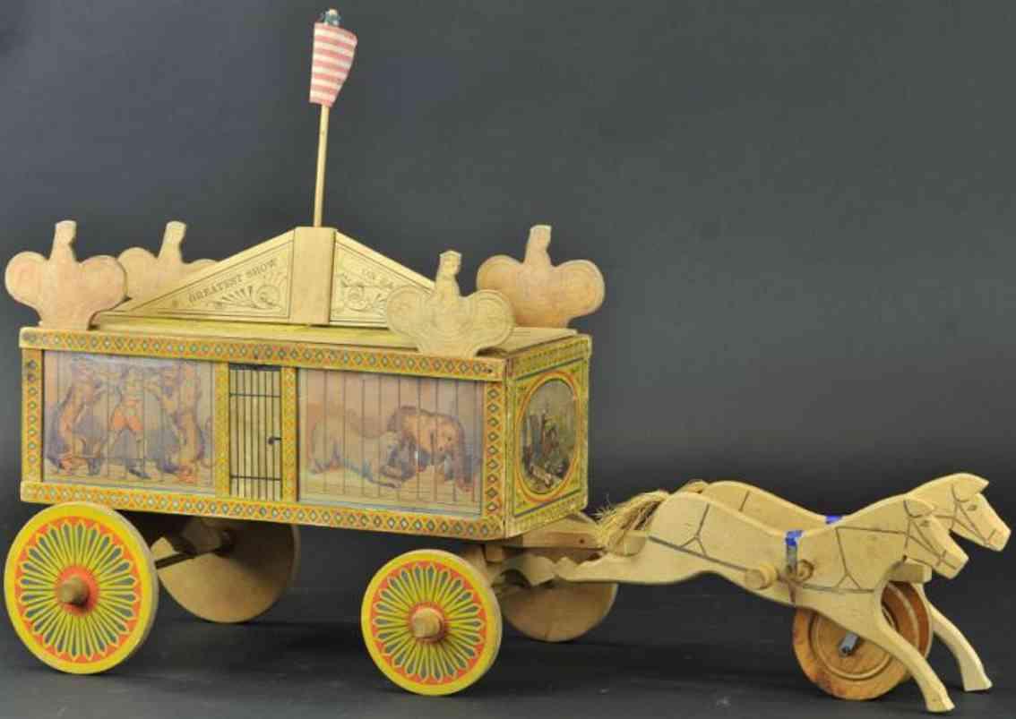 reed toy co papier holz spielzeug wanderzirkuswagen