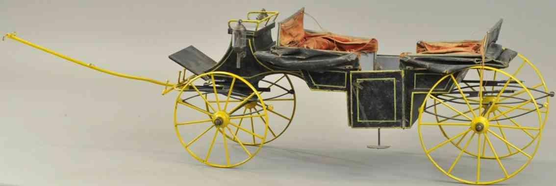 rock & graner blech spielzeug kutsche mit faltdach schwarz gelb