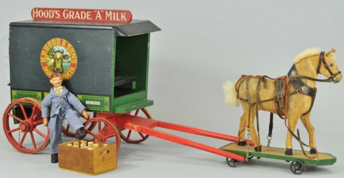 Schoenhut Milchwagen mit Pferd