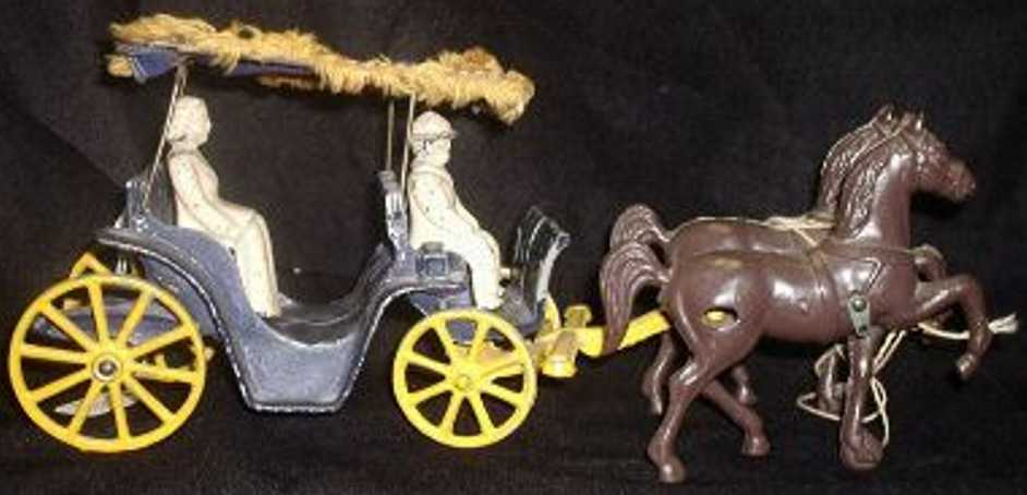 Stanley Toy Company 10 Carriages Two horse surrey cast iron two horses
