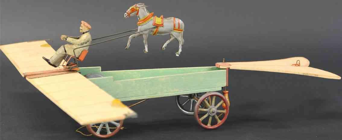 unknown tin toy french transitional farm wagon airplane donkey 1911 lepin paris exhibition