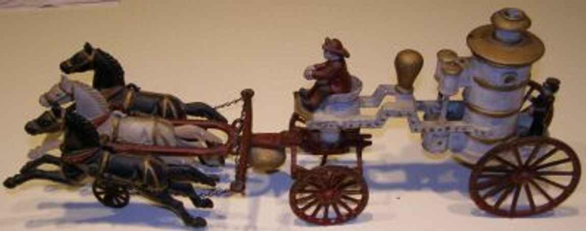 Unique Art Manufacturing Company Horse drawn fire pumper wagon