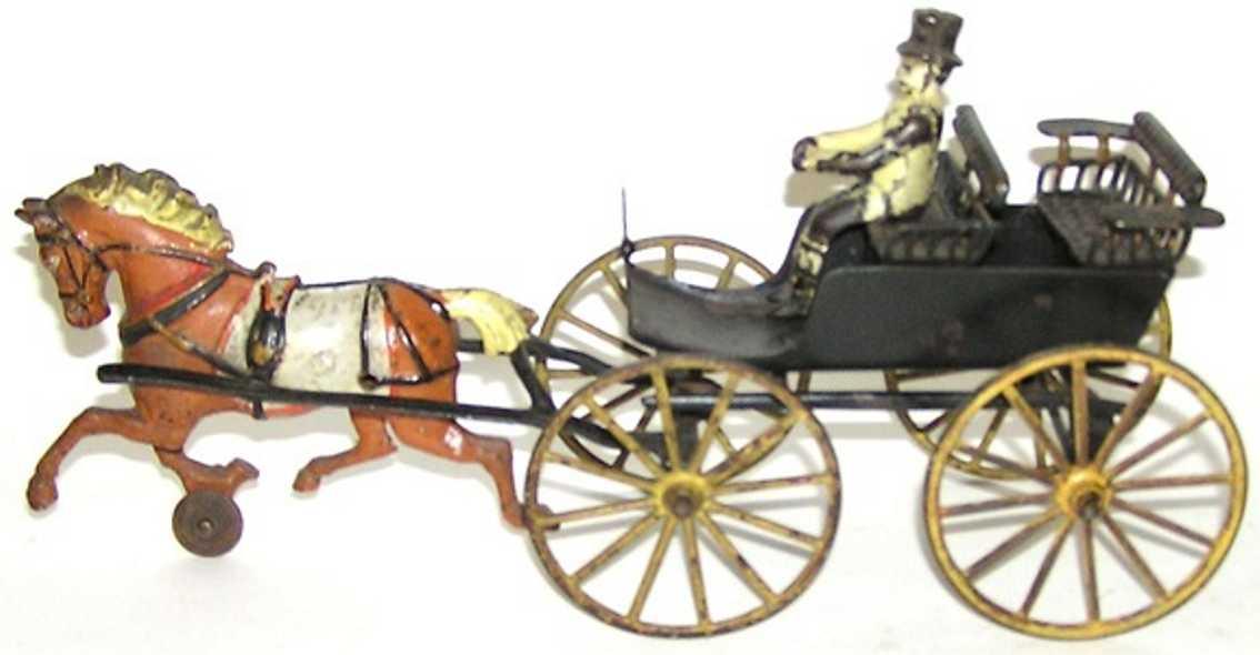 wilkins spielzeug gusseisen surry zweisitzige kutsche ein pferd fahrer