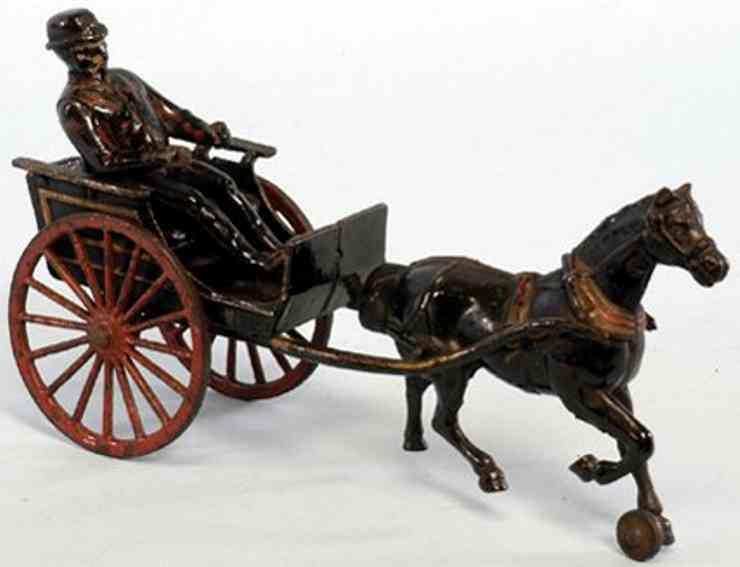 Wilkins Arztkutsche mit Pferd aus Gußeisen bemalt in schwarz