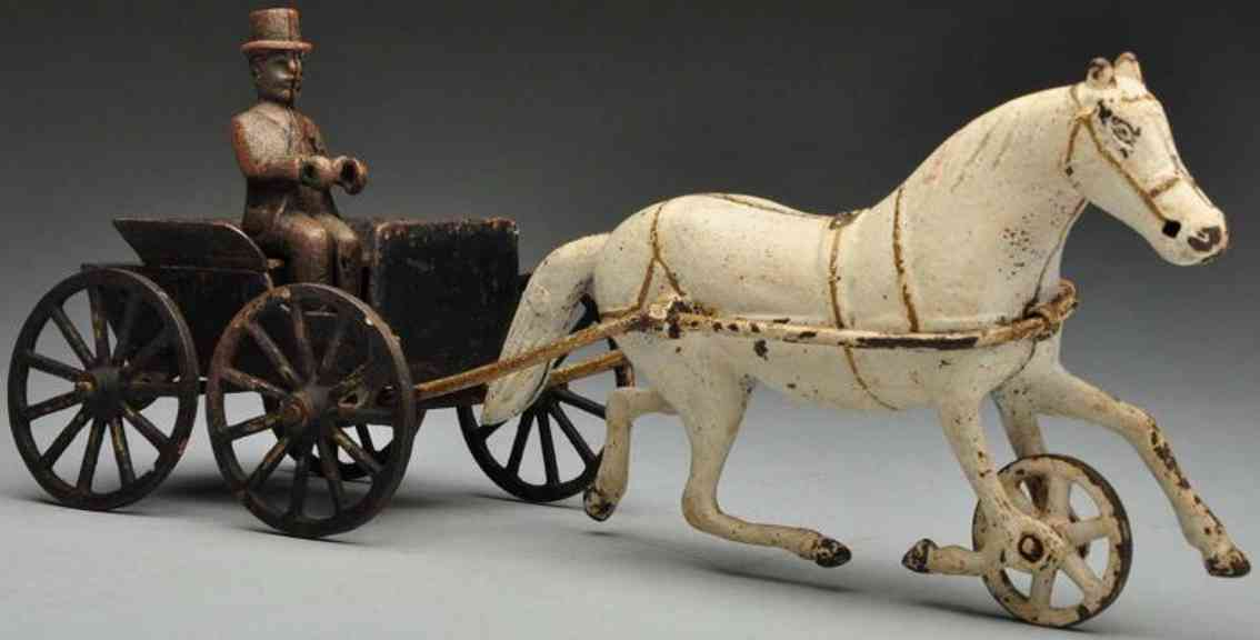 Wilkins Cast iron 4-wheel doctors cart horse-drawn toy