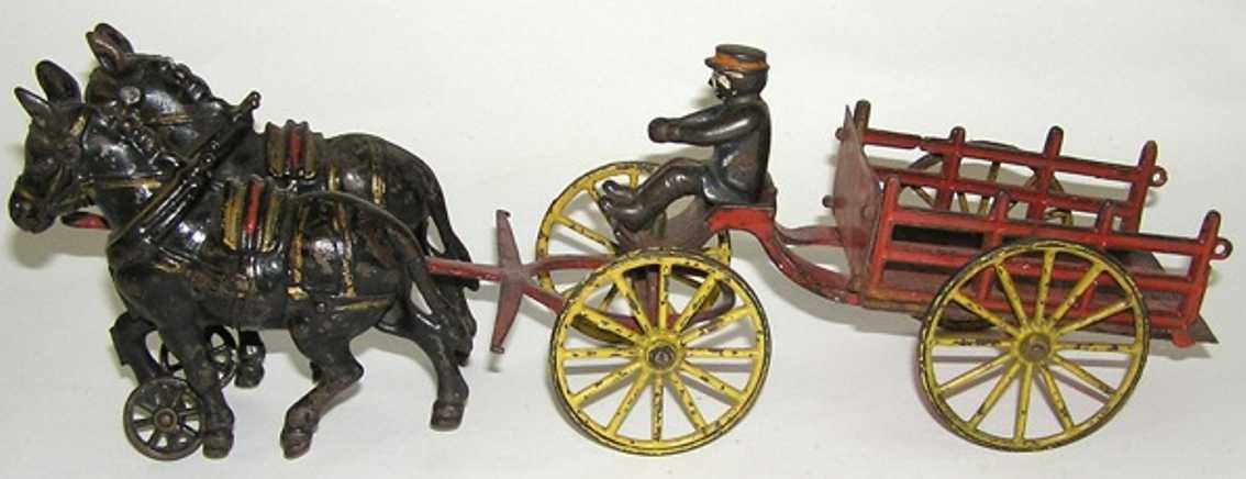 Wilkins Bauernkutsche mit zwei Pferden und Fahrer
