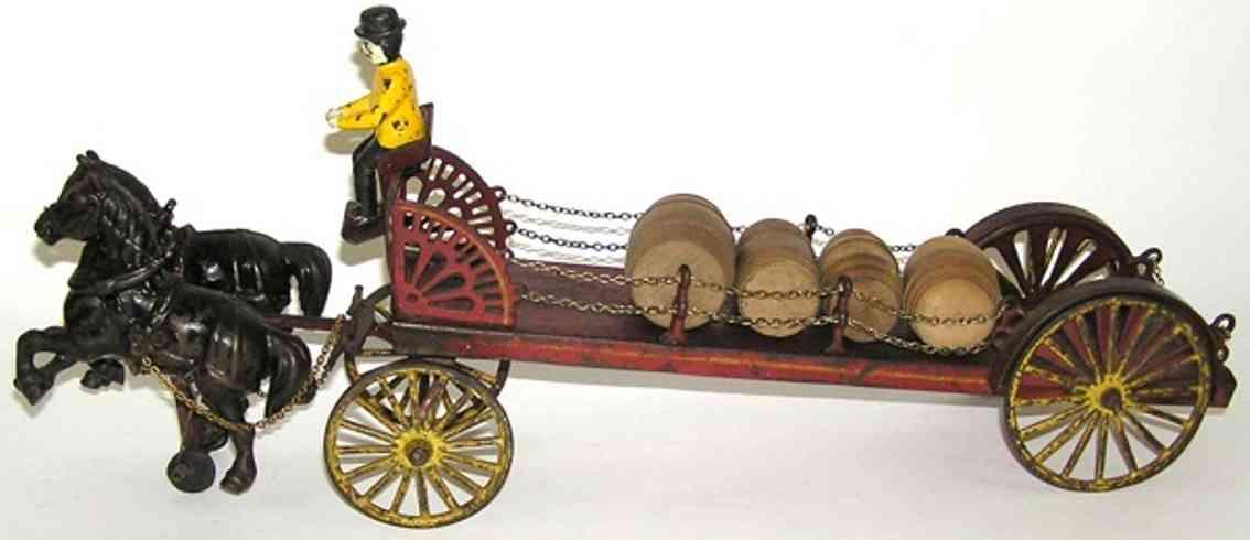 Wilkins Bauernkutsche mit Brauereipferden gezogen von zwei Pferden