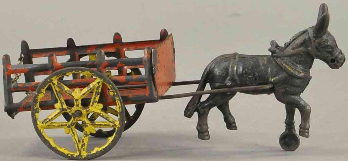 wilkins spielzeug gusseisen farmwagen mit esel