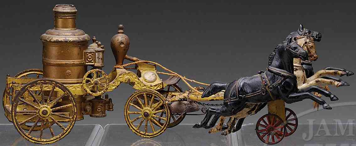 wilkins horse drawn fire wagon three horses