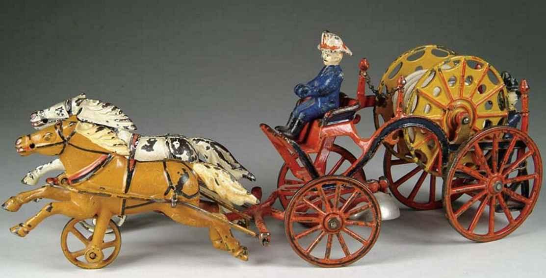 Wilkins Kutsche mit Schlauch und zwei Pferden