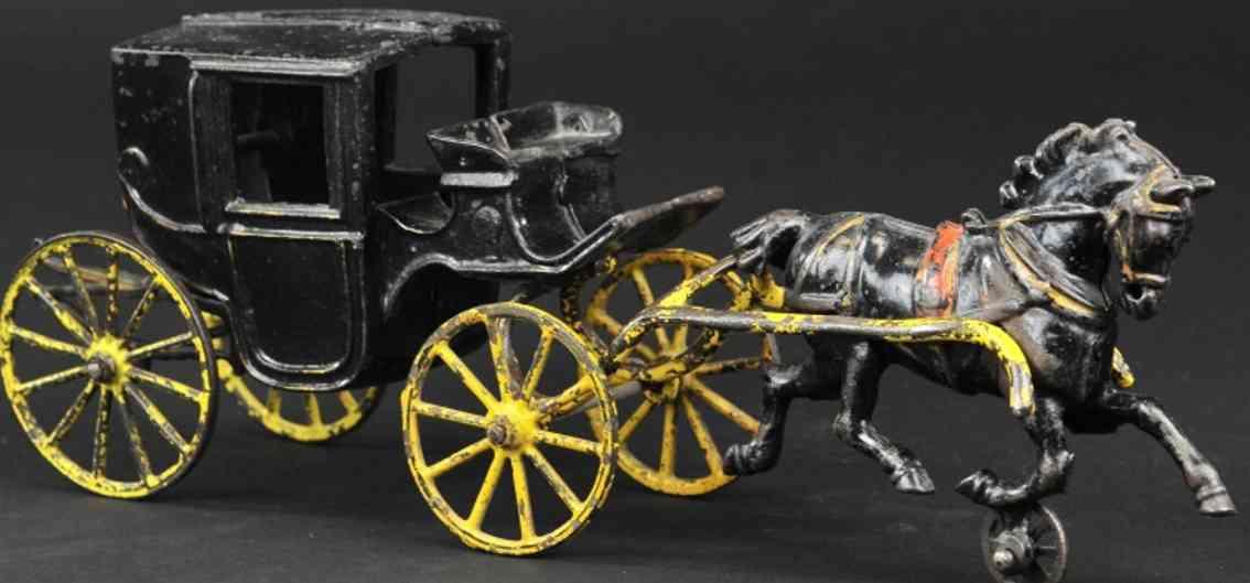 wilkins spielzeug gusseisen landauer ein schwarzes pferd