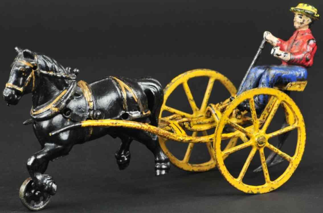 wilkins spielzeug gusseisen pflug mit pferd