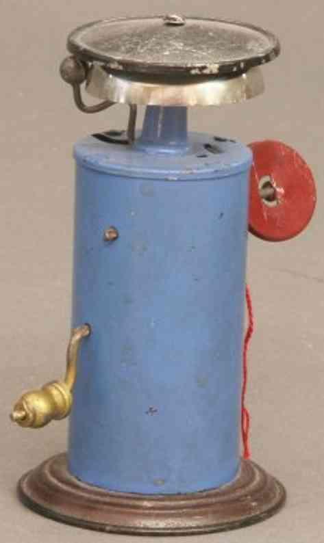 bing 10/610/1 spielzeug eisenbahn laeutewerk in blau mit roter signalscheibe