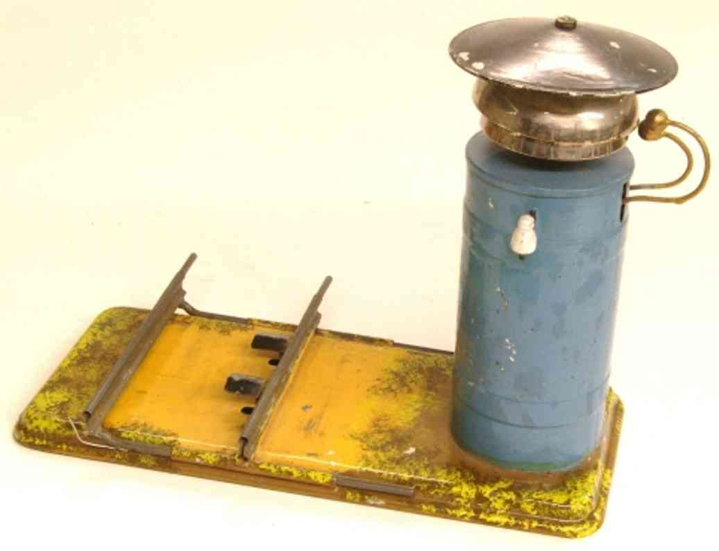 bing 8353/1 railway toy signal bell in blue on square base with train triggering