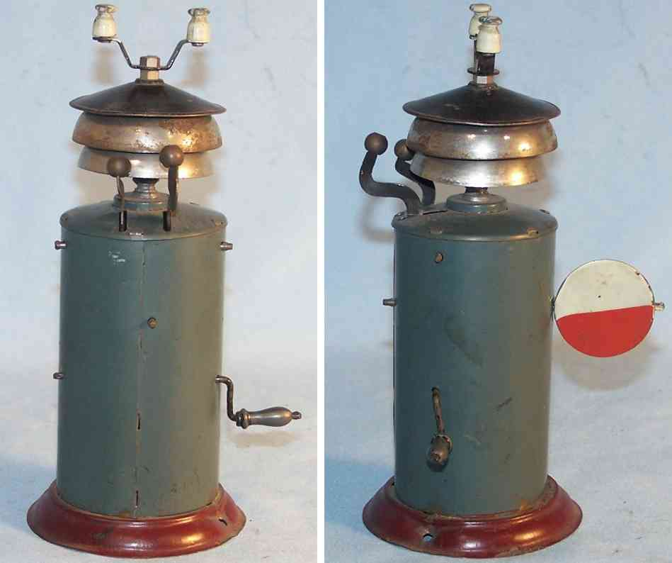 bing 9919 railway toy  tin warning bell with cylindrical base