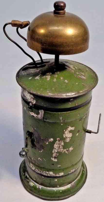 bing spielzeug eisenbahn laeutewerk oliv green kurbel