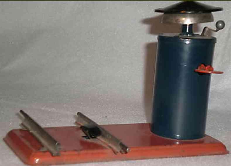 bing 10/630/1 spielzeug eisenbahn laeutewerk mit uhrwerk auf sockel