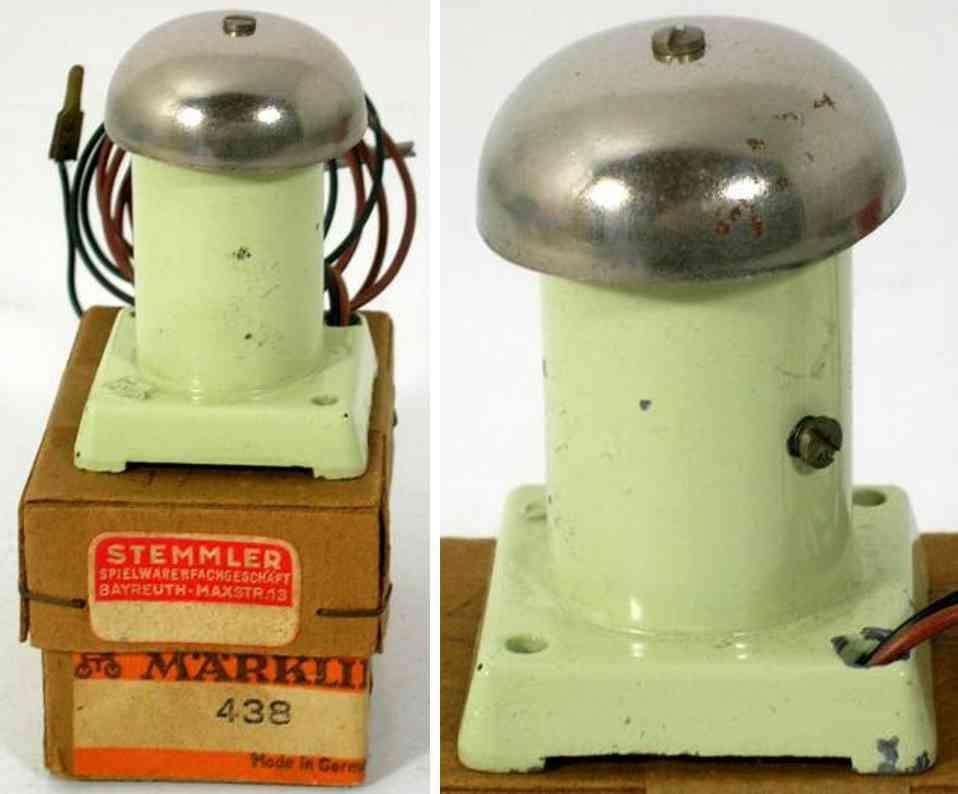 marklin maerklin 438 toy bell appartus square base beige gauge h0