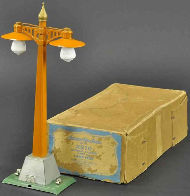 american flyer 2210 railway toy lamp post