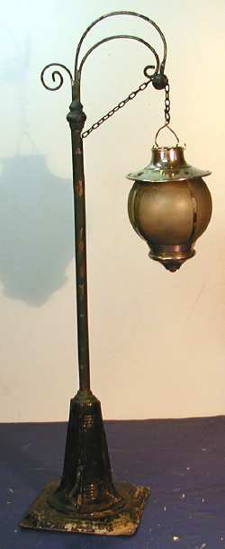bing 10/617 10525 spielzeug eisenbahn bogenlampe für kerzenbefeuerung i
