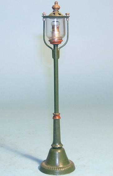 bing 10/646 spielzeug eisenbahn Lampe straßenlaterne mit schraubklemmen im sockel