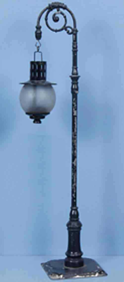bing 10/647 spielzeug eisenbahn bogenlampe mit blechhohlmast schwarz