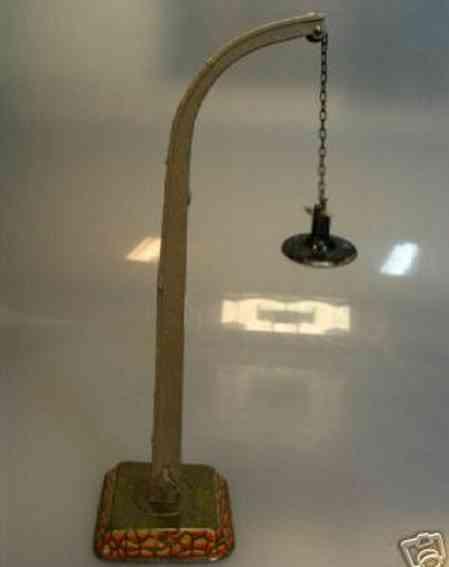 bing 12/5110 railway toy arc lamp on square sheet base