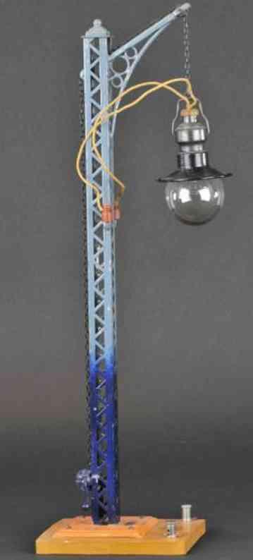 bing 13952 spielzeug eisenbahn einarmige gittermastlampe