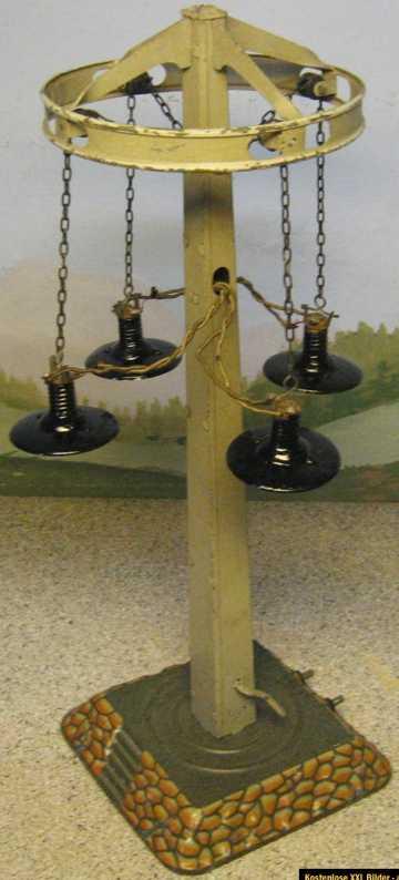 bing spielzeug eisenbahn Lampe lampe mit vier schimen, lampenschirme wurden neu lackiert.