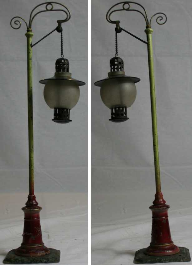 bing 6580 railway toy arc lamp olive
