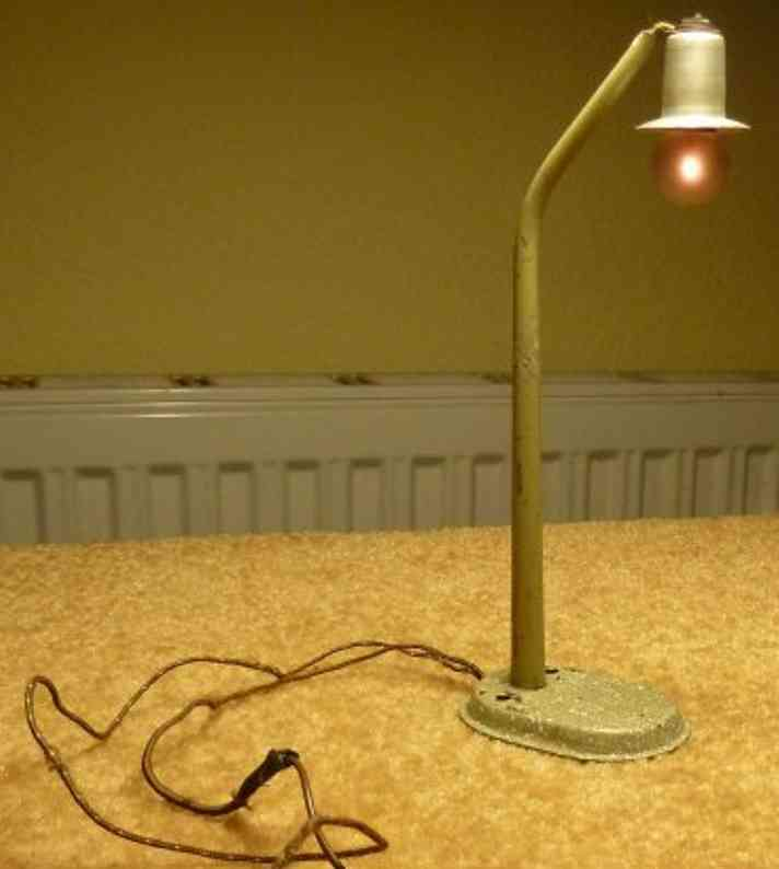 karl bub spielzeug eisenbahn lampe auf ovalem sockel spur s