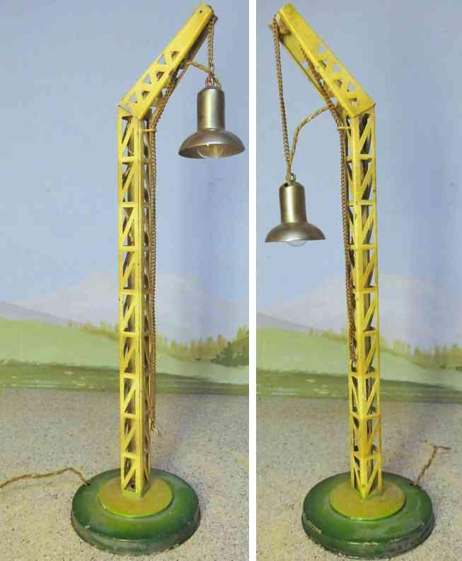 kibri 57/10 spielzeug eisenbahn bogenlampe ein arm runder sockel gittermast