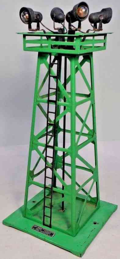 lionel 395 railway toy floodlight tower yellow