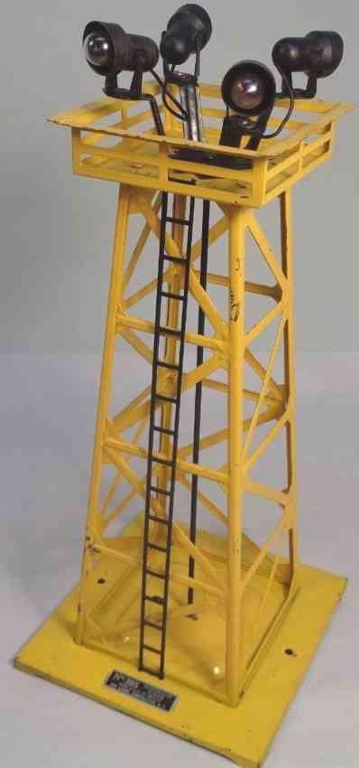 lionel 395 spielzeug eisenbahn scheinwerfer turm gelb