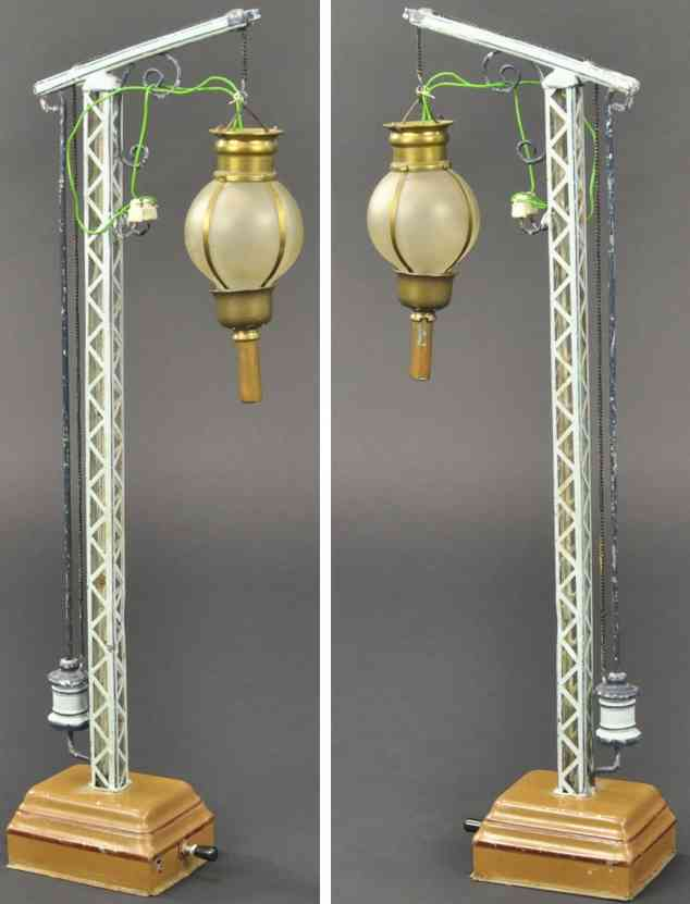 marklin maerklin 02441 railway toy lantern high base lattice mast matte glass ball