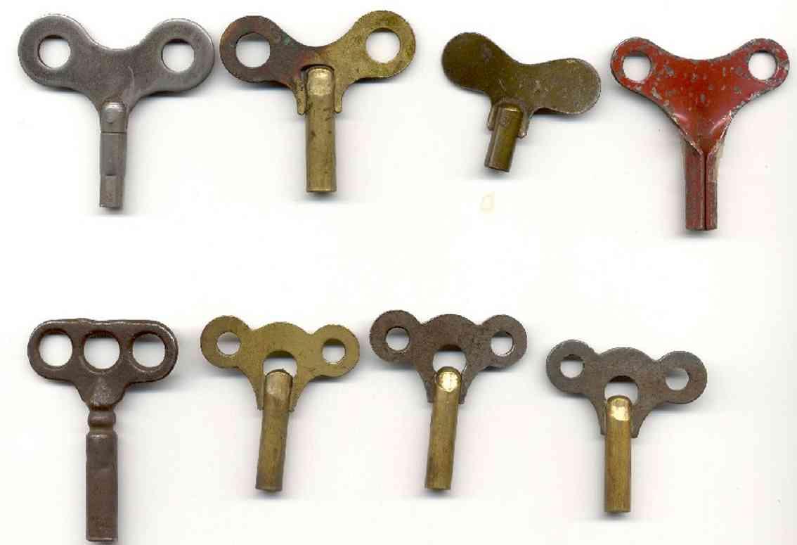 ives spielzeug eisenbahn wagen zubehor die schlüssel mit drei löchern und links ist der älteste von