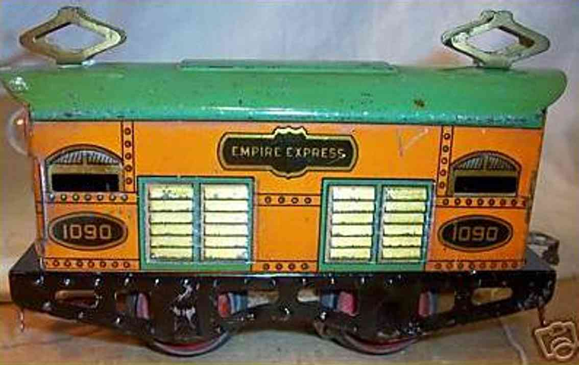 american flyer toy company 1090 toy engine empire express electric locomotive gauge 0