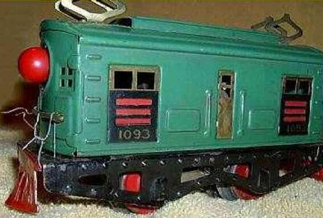 american flyer toy company 1093 green railway toy engine cab locomotive