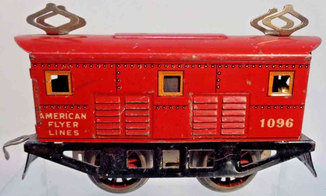 american flyer toy company 1096 red railway toy engine electric locomotive gauge 0