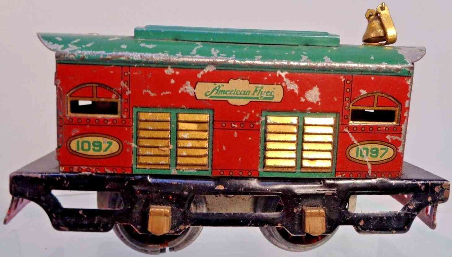 american flyer toy company 1097 railway toy engine electric locomotive red green gauge 0
