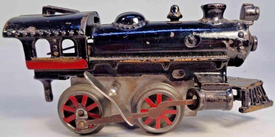 american flyer toy company 13 typ 7 spielzeug eisenbahn uhrwerk-lokomotive schwarz spur 0