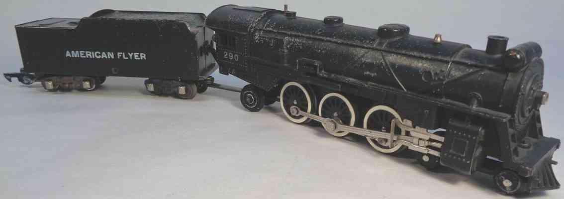 american flyer toy company 290 railway toy engine steam smoker locomotive gauge s