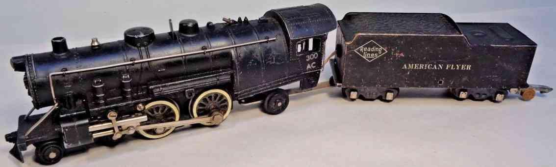 american flyer 300ac spielzeug eisenbahn dampflokomotive tender spur 0
